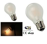 Lampes LED à Filament Gradable Blanc Chaud ONDENN 2 pièces A E26/E27 6 W 6 COB 600 LM AC 100-240/AC 110-130 V
