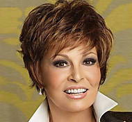 Hot Models High-quality Synthetic Hair Siou US Fashion Must-brown Short Hair