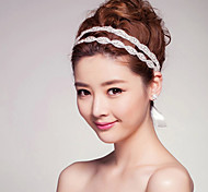 Women Luxury Crystal Headbands/Forehead Jewelry With Crystal Wedding/Party Headpiece(32cm Crystal +55cm Ribbon)