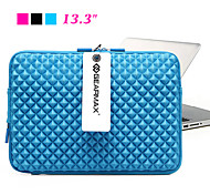 "Waterproof Laptop Sleeve Case Computer Bag for Macbook Air Pro 13.3"" (Pink/Blue/Black)"