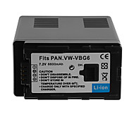 6600mAh Camera Battery Pack for PanasonicVW-VBG6