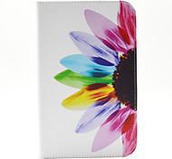 spider®sunflower magia pu carteira de couro da tampa do caso estar com protetor de tela para Samsung Galaxy Tab t110 / T116