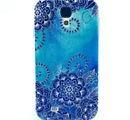 motif bleu TPU couverture souple pour les Samsung Galaxy S i9500