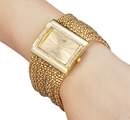 Women's Watch Rectangle Czechic Diamond Dial Silver Bracelet Watch