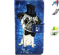 cão chapéu padrão coldre e plugue combinação caneta stylus poeira suporte para Samsung Galaxy a3