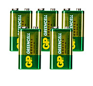 bateria de carbono 9v gp (5pcs)
