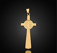 Vilam® Figaro Religious Crucifix 18K Gold Plated CC Color High Quality Uneasy Fade Pendant 1pc