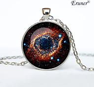 Euner® Helix Nebula Pendant Helix Nebula Necklace Helix Nebula Jewelry, Galaxy Universe Stars Space Gift