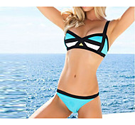 Celeste Geometric Suspender Top Bikini Set