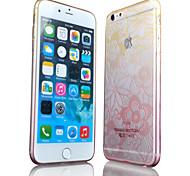 Blumenmuster gradient dünne transparente TPU-Material Mobile Shell für iphone 6 (verschiedene Farben)