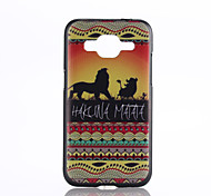 Lions Pattern PC Hard Back Cover Case for Samsung Galaxy Core Prime G360