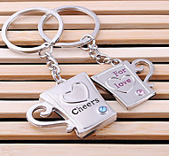 Cheers for Love Wedding Key Ring Keychain for Lover Valentine's Day(One Pair)