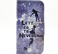 Flying Children Pattern PU Leather Full Body Case with Stand and Card Holder for Samsung Galaxy S6 Edge