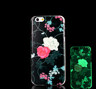 Flowers Pattern Glow in the Dark Case for iPhone 6 Cover