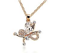 HUALUO®Korean Fashion Butterfly Man Diamond Necklace