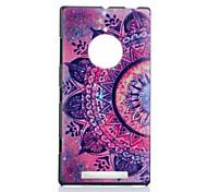 Для Кейс для Nokia С узором Кейс для Задняя крышка Кейс для Цветы Твердый PC Nokia Nokia Lumia 830