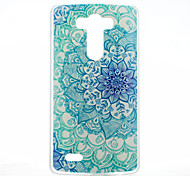 Blue Flowers Pattern Transparent Frosted PC Material Protective Shell for LG G3