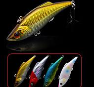 """2 pcs Vibración / Cebos Vibración Blanco / Oro / Rojo / Azul 13 g/1/2 Onza mm/3"""" pulgada,Plástico duroPesca de Mar / Pesca de agua dulce"""