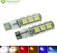 T10  149  W5W 3.5W 2-Mode  Blue/Red/Warm White/Green/Yellow/White 13X5050SMD LED 140LM   for Car Light Bulb  (DC12-16V)