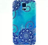 modelo azul TPU suave para el mini samsung galaxy s5