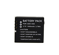 1000mAh 3.7V D30  Camera Battery for AEE  SD19/SD20/SD21/SD21/SD23