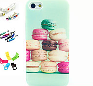 Color Bread Pattern Stylus Anti-Dust Plug and Stand TPU Material for iPhone 5/5S