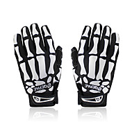 Cycling Bike Bicycle Anti-Slip Breathable Hand Skeleton Pattern Full-Finger Gloves Size(M/L/XL)