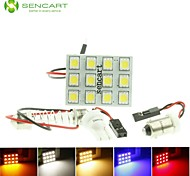 t10 BA9S SV8,5 g4 led 2.5W blauw / rood / warm wit / geel / wit 12x5050smd geleid 140Lm voor auto-lamp (dc12-16v)