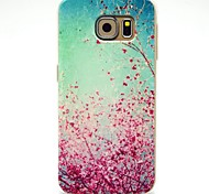 Cherry Blossoms Pattern TPU Soft Case for Samsung Galaxy S6