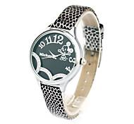 japão quartzo estilo de moda pulseira de couro faixa de vidro força da senhora de discagem especial relógios dc-51008