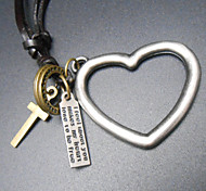 2015 Heart-Shaped Alloy Parts Are Long Sweater Chain Pendant Necklaces