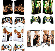 Hot Girl Protective Sticker Skin for Microsoft Xbox 360 Slim