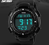 SKMEI® Men's Sporty Black Watch Digital LCD Display Calendar/Chronograph/Alarm/Water Resistant