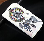 For Samsung Galaxy Case Card Holder / Wallet / with Stand / Flip Case Full Body Case Dream Catcher PU Leather SamsungS Advance / Win /