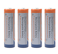1800mAh 3.7V 18650 Rechargeable Lithium Ion Battery (4pcs)