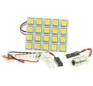 T10  BA9S SV8.5 G4 LED  4W 20X5050SMD LED 220LM  Blue/Red/Warm White/Yellow/White  for Car Light Bulb  (DC12-16V)