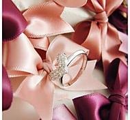 Retro Full Diamond Shining Love Heart Ring