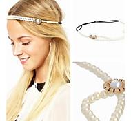 Sweet Pearl Flower Elastic Headband Head Jewelry