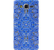Blue Totem Pattern TPU Diamond Relief Back Cover Case for Samsung Galaxy Prime G530