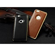 Original Luxury Leather Back Metal Bumper Frame Case Cover for iPhone6