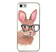 Glasses Rabbit Pattern Back Case for iPhone5/5s