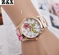 Children's Fashion Diamond Lovely Flower Quartz Analog Leather Belt Wrist Watch(Assorted Colors)