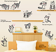 Lovely Chi's Sweet Home Cats PVC Wall Stickers Wall Art Decals