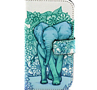 Forest Elephants Pattern PU Leather Case with Magnetic Snap and Card Slot for Alcatel One Touch Pop C7