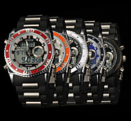 New fashion men's business double movement movement waterproof anti fall large dial watches LCD BWL583
