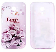 Love and Rose Glitter Pattern TPU Soft Case for Motorola G2