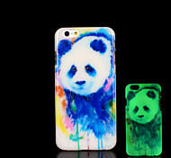 Panda Pattern Glow in the Dark Case for iPhone 6 Cover
