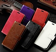 Card Wallet Crazy Horse Pattern PU Leather Full Body Case with Stand Slot for Alcatel One Touch Pop C5(Assorted Colors)