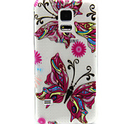 Pink Butterfly Pattern TPU Relief Back Cover Case for Samsung Galaxy S5Mini