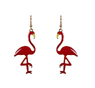 Cute Enamel Swan Drop Earrings